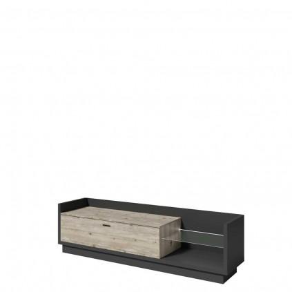 Tv-benk Manta 220 cm - Antrasitt - Pine