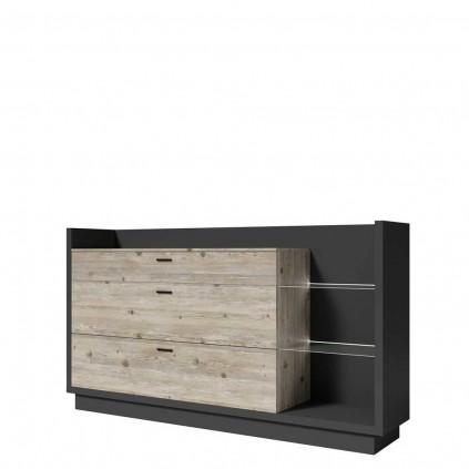Skjenk Manta 200x109 cm - Antrasitt - Pine