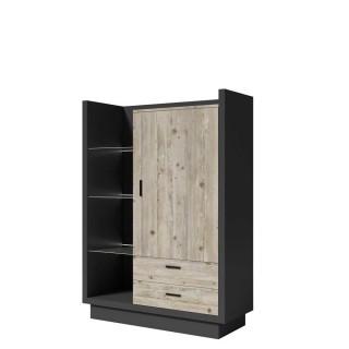 Skjenk Manta 105x142 cm - Antrasitt - Pine