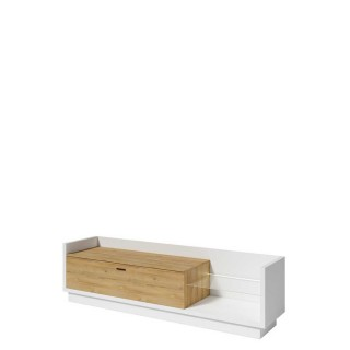 Tv-benk Verduna 220 cm - Hvit - Naturlook