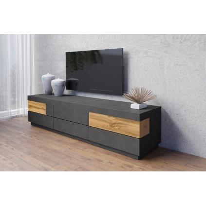 TV-benk Dover 206 cm - Mørk eik - Trelook