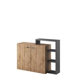 Skjenk Scaleo 130 cm - Antrasitt - Trelook