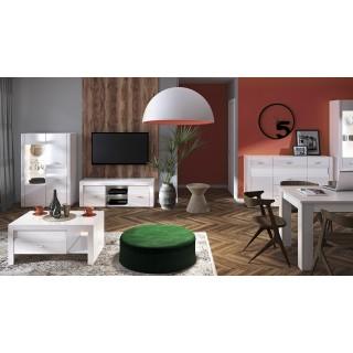 Stuebord Beco 108 cm - Hvit Høyglans