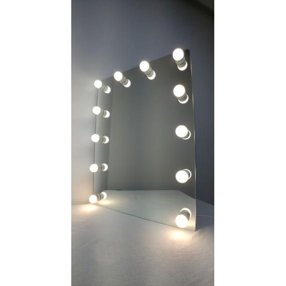 Sminkespeil Hollywood 80x60 - Vegghengt - Make up speil