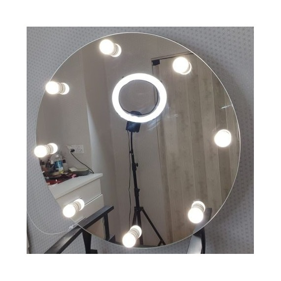Sminkespeil Hollywood 80 cm - Vegghengt - Make up speil