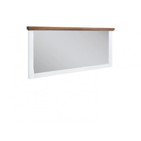 Speil Kelion 140 cm - Akasietre - Hvit - Vegghengt
