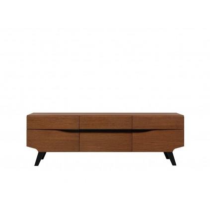 Tv-benk Disona 162 cm - Brun - Svart