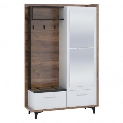 Garderobe Nevia 125x195 cm - Trelook - Hvit
