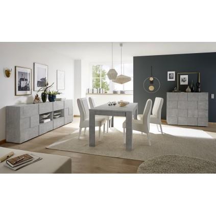 Spisebord Baxton 180x90 cm - Betonggrå - Betonglook