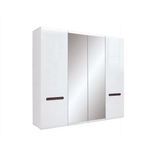 Garderobe Ario 220 cm - med speil - 4 dører