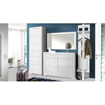 Garderobe Pono 60x200 cm - Hvit høyglans