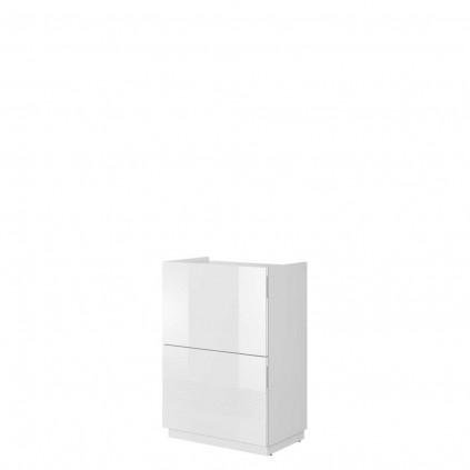 Skoskap Mondo 60x86 cm - Hvit høyglans