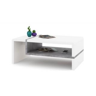 Sofabord Abelia 100 cm - Hvit Matt - Betong