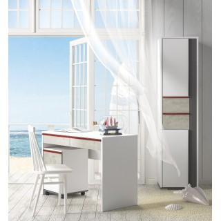 Skrivebord Terrion 120x79 cm - Hvit - Grafitt - Betong