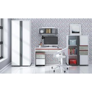 Skrivebord Terrion 92x136 cm - Hvit - Grafitt - Betong