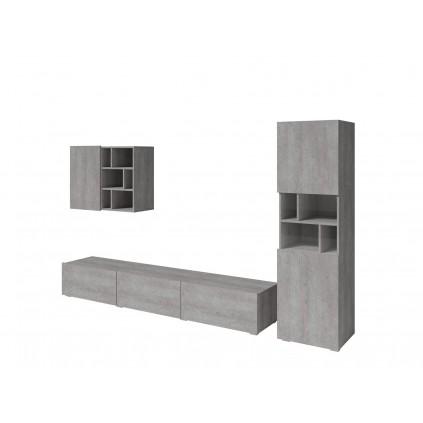 Tv-seksjon Steinwood - Grå betong