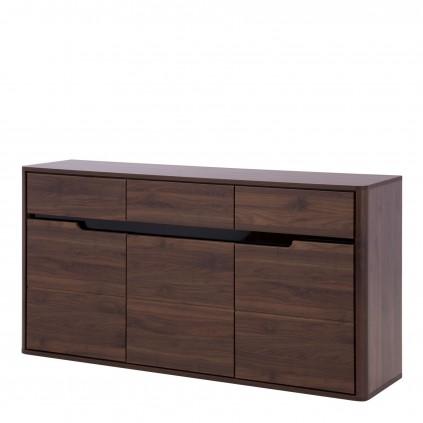 Skjenk Edan 160x85 cm - Nøtt - Mørk brun