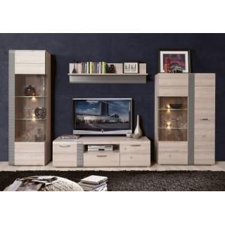 TV-benk Locarno 160 cm - Grå Eik