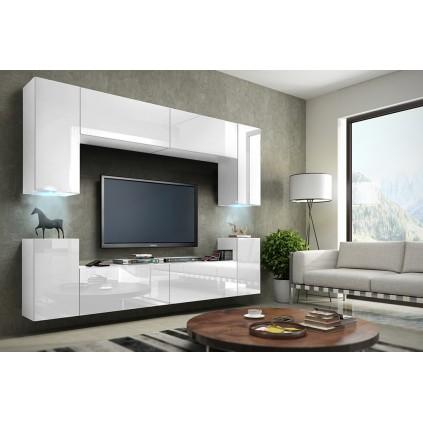 Tv-møbelsett Concept 256x170 cm - Hvit