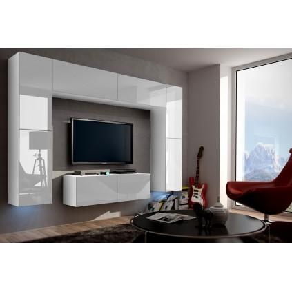 Tv-møbelsett Concept 256x195 cm - Hvit
