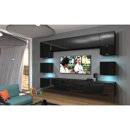 Tv-møbelsett Next 257x206 cm - Svart