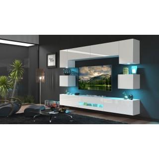 Mediamøbel Next 257x207 cm - Hvit