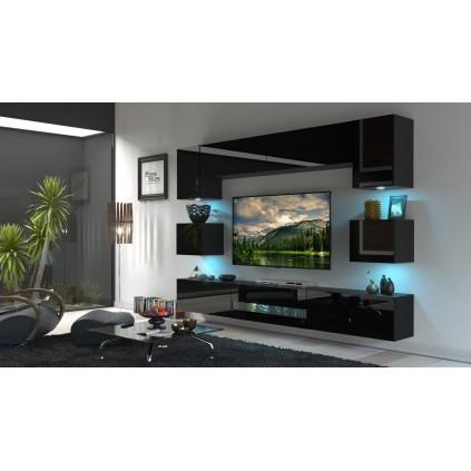 Tv-møbelsett Next 257x207 cm - Svart