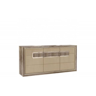 Sideboard Teandino 193 cm - Latte - Trelook - LED inkludert