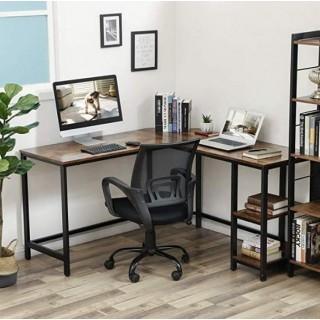 Hjørneskrivebord Rustical med hylle 138x138 cm - Trelook - Industriell