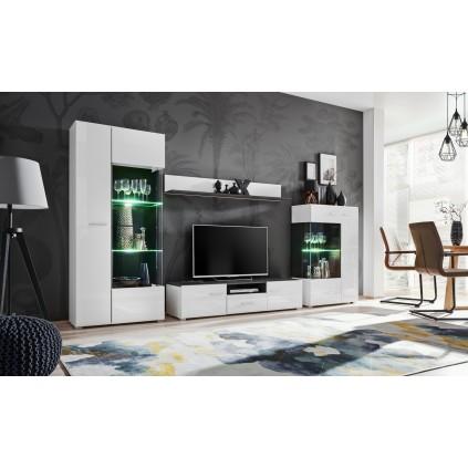 Tv-møbelsett Solido 310x190 cm - Hvit - Svart
