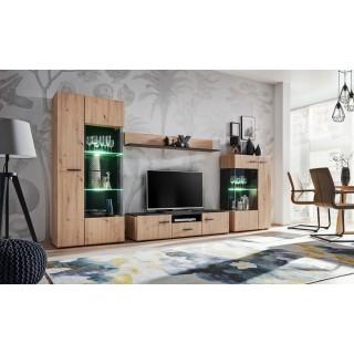 Mer omTv-møbelsett Solido 310x190 cm - Eiklook - Svart