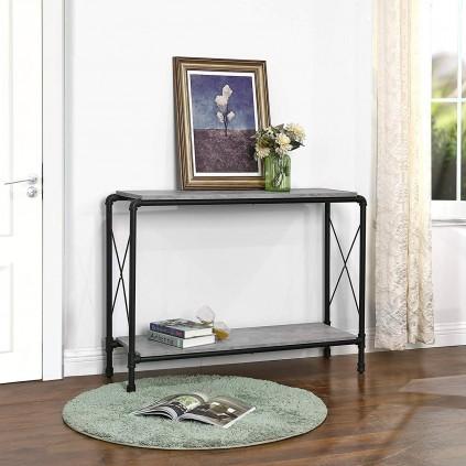 Konsollbord Asta 110x81 cm - Betonglook - Grå