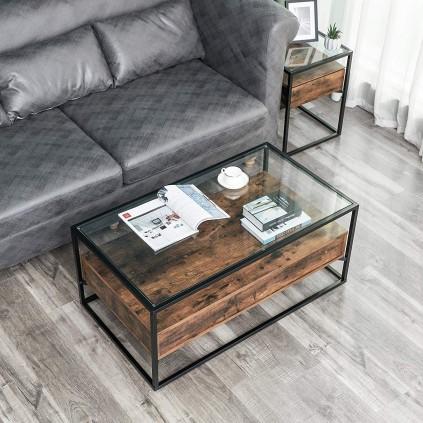 Sofabord Melii 106x45cm - Industriell stil