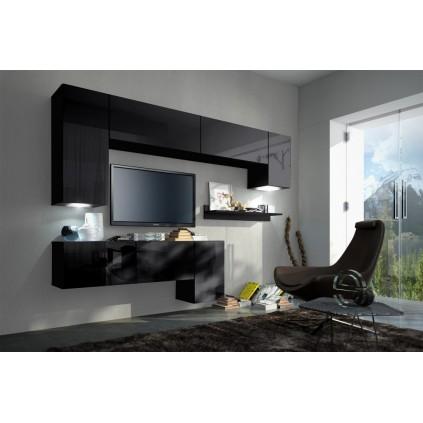 Tv-møbelsett Concept 240x200 cm - Svart