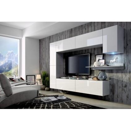 Tv-møbelsett Concept 256x166 cm - Hvit