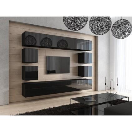 Tv-møbelsett Concept 249x183 cm - Svart