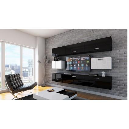 Tv-møbel Concept 249x191 cm - Svart - Hvit