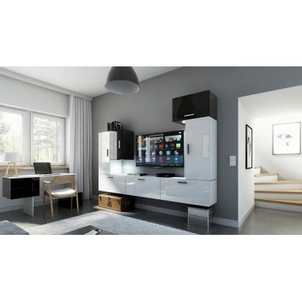 Tv-møbelsett Concept 249x191 cm - Hvit - Svart