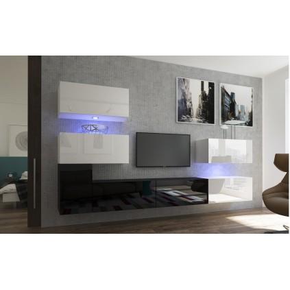 TV seksjon Next 302x182 cm - Svart - Hvit