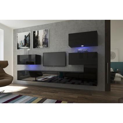 TV seksjon Next 302x182 cm - Svart