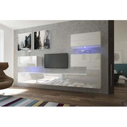 TV seksjon Next 302x182 cm - Hvit