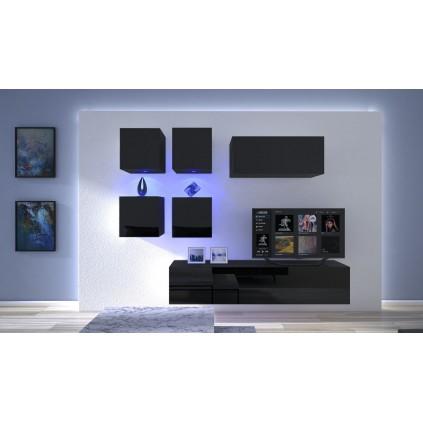 Tv-møbel Next 200x195 cm - Svart