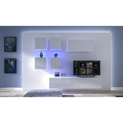 Tv-møbel Next 200x195 cm - Hvit