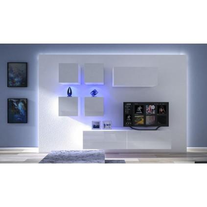 Tv-møbel Next 236x195 cm - Hvit
