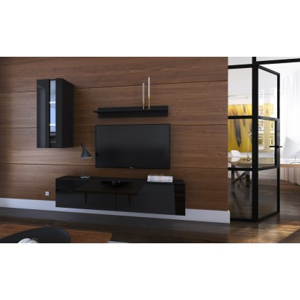 Tv-møbel Next 193x183 cm - Svart