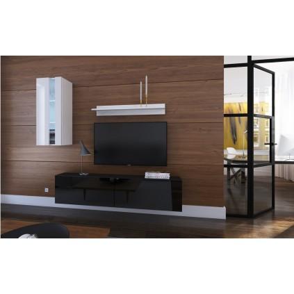 Tv-møbel Next 193x183 cm - Svart - Hvit