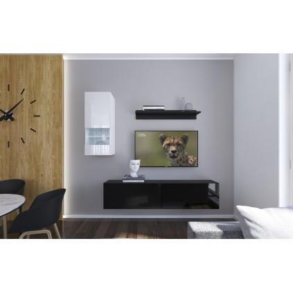Tv-møbel Next 193x188 cm - Svart - Hvit