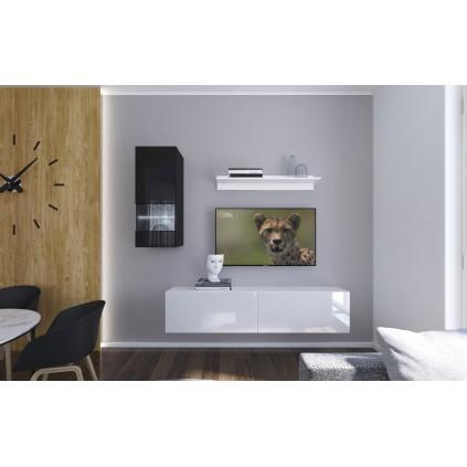 Tv-møbel Next 193x188 cm - Hvit - Svart