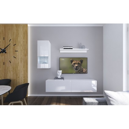 Tv-møbel Next 193x188 cm - Hvit