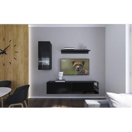 Tv-møbel Next 193x188 cm - Svart